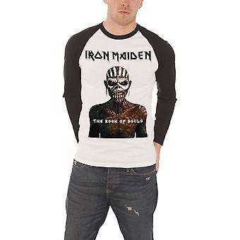 Iron Maiden T Shirt Mens Book of Souls Logo Official Mens New Baseball Shirt