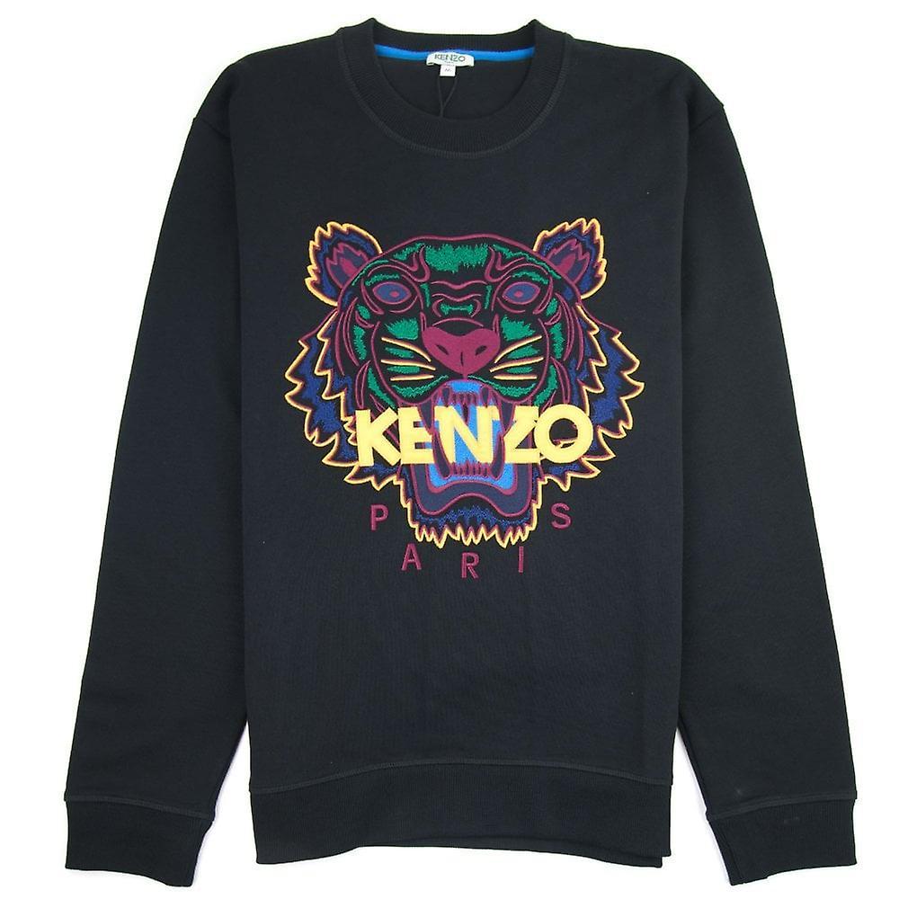 Kenzo Tiger Sweatshirt svartgul