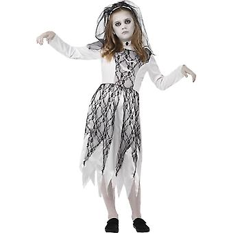 Ghostly Bride Costume, Small Age 4-6