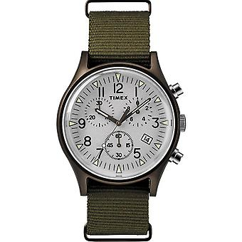 TW2R67900D7 - Alliierten Nylon Khaki Stahl Mann Fall Chronograph Timex Watch