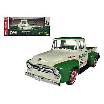1956 Ford F-100 Pickup Truck \Mountain Dew\ Limited to 1250pc 1/18 Diecast Model Car by Autoworld