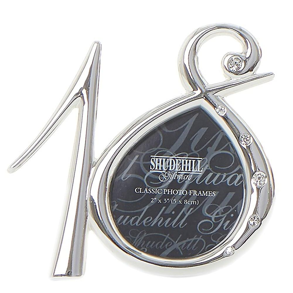 Shudehill Giftware Silver Plated Diamante Number 18th Birthday 2 X 5 Photo Frame