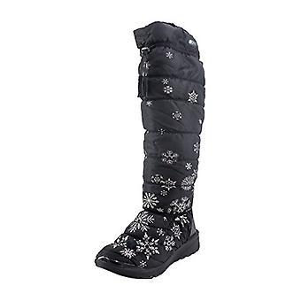 BZees Womens Fabric Closed Toe Knee High Fashion Boots