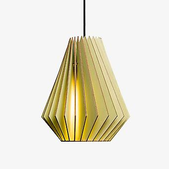 Iumi Hektor Cone Shaped Birch Plywood Pendant - Light Green