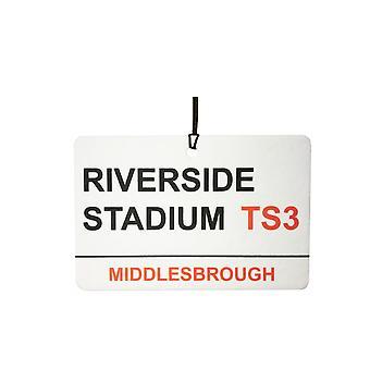 Middlesbrough / Riverside Stadium Street Logg bil Air Freshener