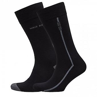 Hugo Boss 2 Pack Black/Grey Socks 50406444