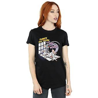 Animaniacs Women's Pinky And The Brain Take Over The World Boyfriend Fit T-Shirt