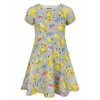 Pokemon Skater Dress Girls Kids Pikachu Pokeball Outift