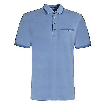 Ted Baker Mens Blue Jakturc Soft Touch Cotton Polo Shirt