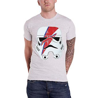 Official Mens Star Wars T Shirt Stormtrooper Glam Lightning Bolt Heather Grey