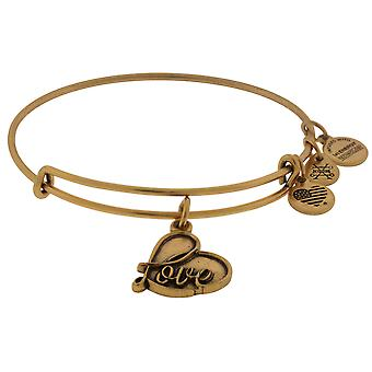 Alex si Ani Love Charm Bangle - Rafaelian Gold Finish - A17EB05RG