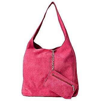 Joe Browns Bella Boho Suede Bag with Purse Bag with Long Handle Woman Rosa One Size
