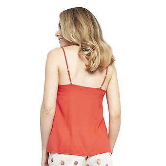 Cyberjammies 4457 Kvinnor's Sophia Red Modal Cami Pyjama Top