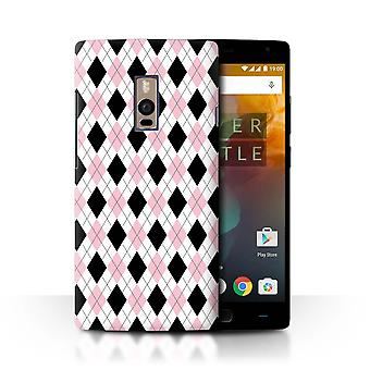 STUFF4 Case/Cover for OnePlus 2/Two/Pink Argyle/Winter Fashion