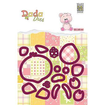 Неллизапос;s Выбор DADA Farm Die - животные свиньи DDD019 52x68mm (11-19)