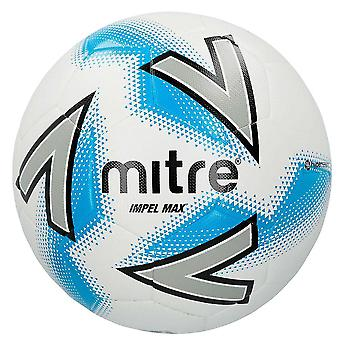 Mitre Impel Max Training Football Soccer Ball White/Silver/Blue