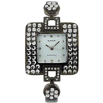 Zaza London Diamante Design White Dial Ladies Watch LLB 863