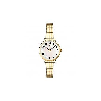 Accurist Ladies Round Mother Of Pearl Dial Gold Expanding Bracelet Watch 8208