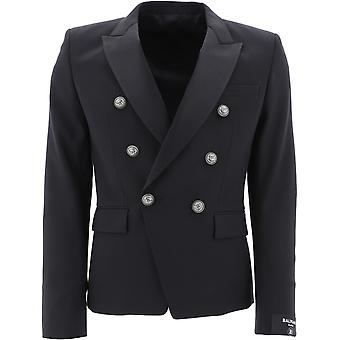 Balmain Th17112x0690pa Men-apos;s Blazer en nylon noir