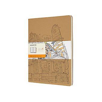 Moleskine cahier xl ruled  - kraft col.-  Wandering City16