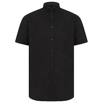 Henbury Mens modernen Kurzarm Oxford-Hemd