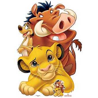 Lion King Group with Simba, Timon and Pumbaa Cardboard Cutout