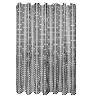Grau karierte Duschvorhang 180x200cm