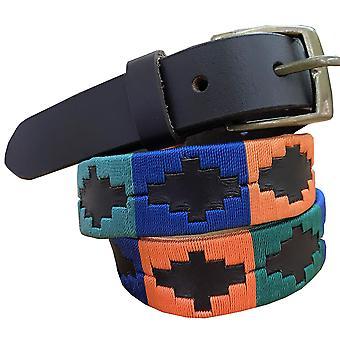 Carlos diaz boys  brown leather  polo belt cdcpb32