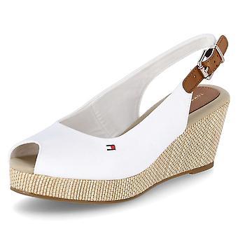 Tommy Hilfiger Iconic Elba Sling FW0FW04788YBIIVORY universal summer women shoes