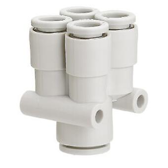 SMC Pneumatic Double Y Tube-To-Tube Adapter, Connection 6Mm To 8Mm