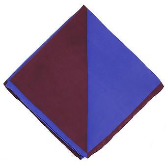 Michelsons of London Two Colour Silk Handkerchief - Purple/Wine