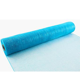 Turquoise 53cm x 9.1m Deco Mesh Roll for Wreath Making, Floristry & Crafts