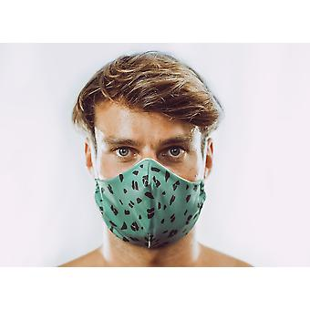 Non-Medical Face Mask | 7. Funky Animal - Army - M ( fits most teenagers, adults 165-180 cm )