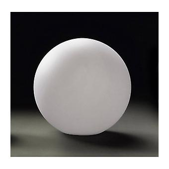 Huevo Ball Table Lamp 1 Cfl Bulb Medium In Line Switch Indoor, Opal White