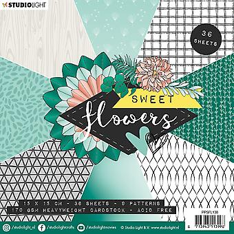Studio Light Paper Pad Sweet Flowers nr.138 PPSFL138 15x15 cm