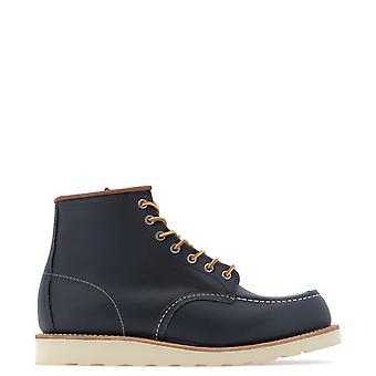 Red Wing 8859navy Men's Blue Leather Ankle Boots