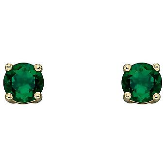 Elements Gold May Birthstone Stud Boucles d'oreilles - Vert/Or
