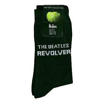 The Beatles Socks Revolver Band Logo Official Black UK Size 4 - 7 Ladies Ankle