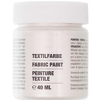 Pearly White Fabric Paint for Light Fabrics - 40ml
