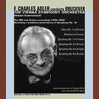Bruckner / Adler / Vienna Sym Orch - Adler Conducts Bruckner-Mass 1 Syms 1 3 6 & 9 [CD] USA import