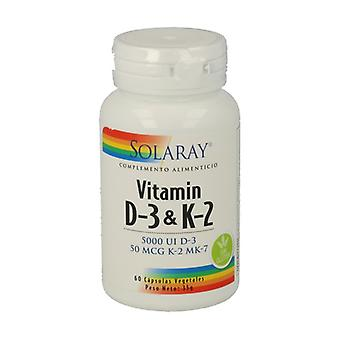 Vitamin D3 and K2 60 vegetable capsules