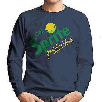 Sprite retro 80s logo mäns tröja