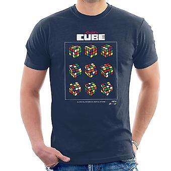 Rubik's Retro Cube Moves Men's T-Shirt