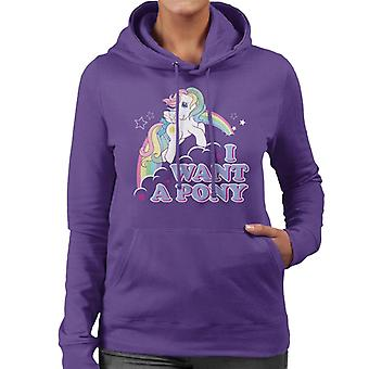 My Little Pony I Want A Pony Women's Hooded Sweatshirt