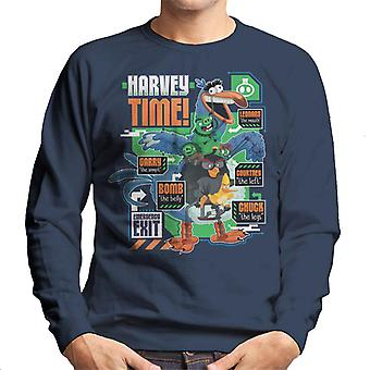 Angry Birds Harvey Time Men-apos;s Sweatshirt