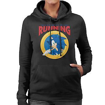 Sonic The Hedgehog Always Running Women's Hooded Sweatshirt