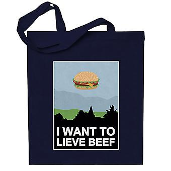 I Want To Lieve Beef Totebag
