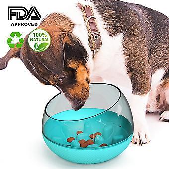 Nonslip Anti Gulping Pet Hidas syöminen Syöttölaite Vesikulho Suuri koirat
