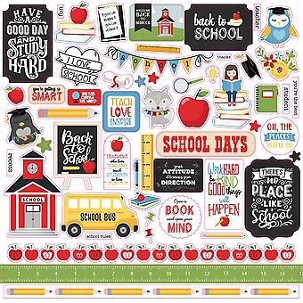 Echo Park School Rules 12x12 Inch Element Sticker