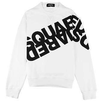 Dsquared2 diagonale print sweatshirt wit